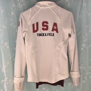 USA track and field white nike jacket